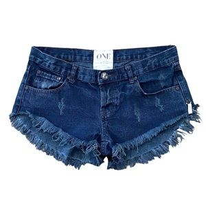 One Teaspoon Bonitas Distressed Shorts